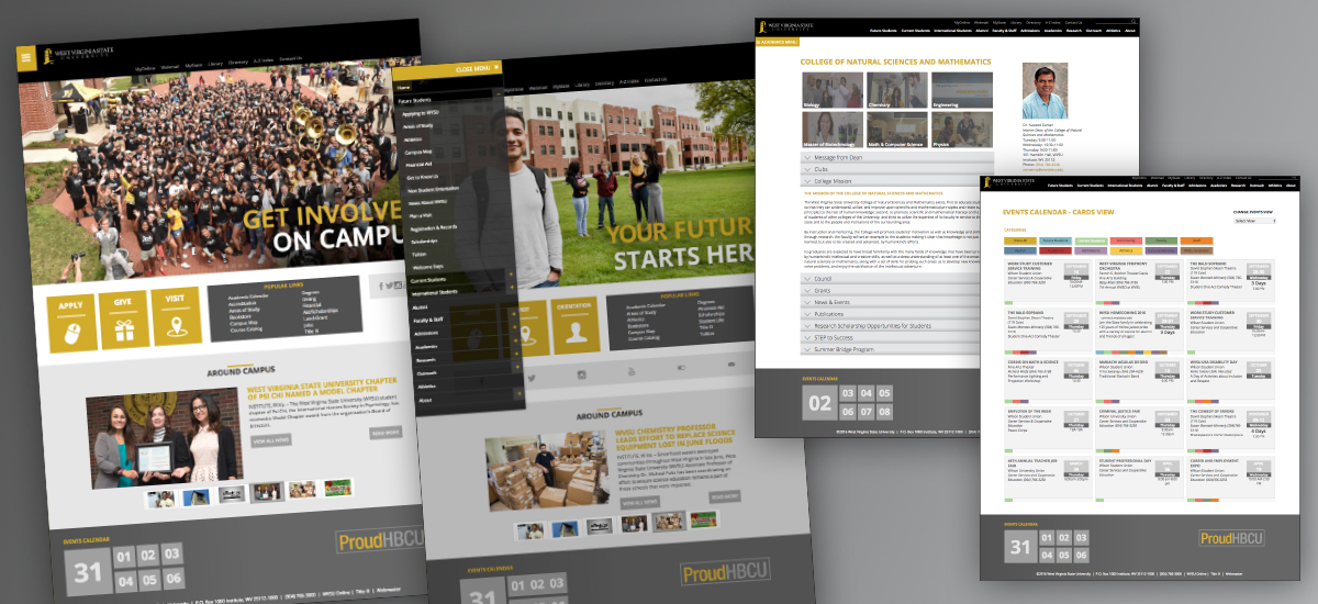 West Virginia State University Website The Barnes Agency