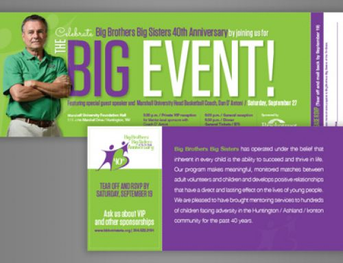 Big Brothers Big Sisters Print: 40th Anniversary Invitation