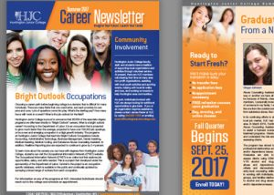 Barnes Agency Work - Huntington Junior College Newsletter Featured