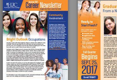 Barnes Agency Work - Huntington Junior College Newsletter Featured