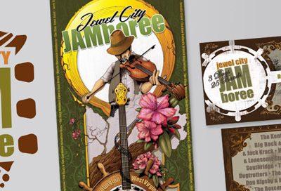 Barnes Agency Work - Jewel City Jamboree Print Featured