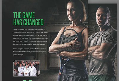 Barnes Agency Work - Marshall Sports Medicine Institute Featured Image
