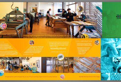 Barnes Agency Work - MU Visual Arts Center Brochure Featured
