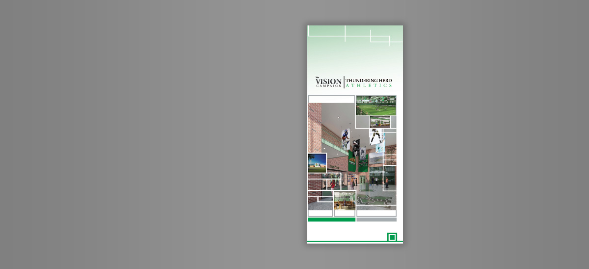 Barnes Agency Work - Marshall University Vision Campaign Brochure Cover