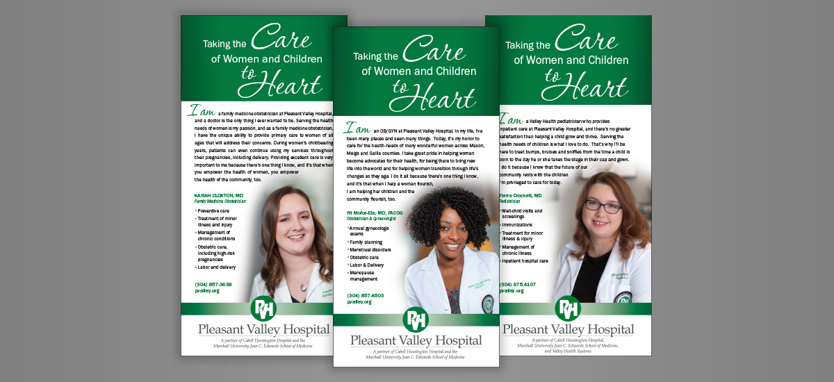 Barnes Agency Work - Pleasant Valley Hospital Ad
