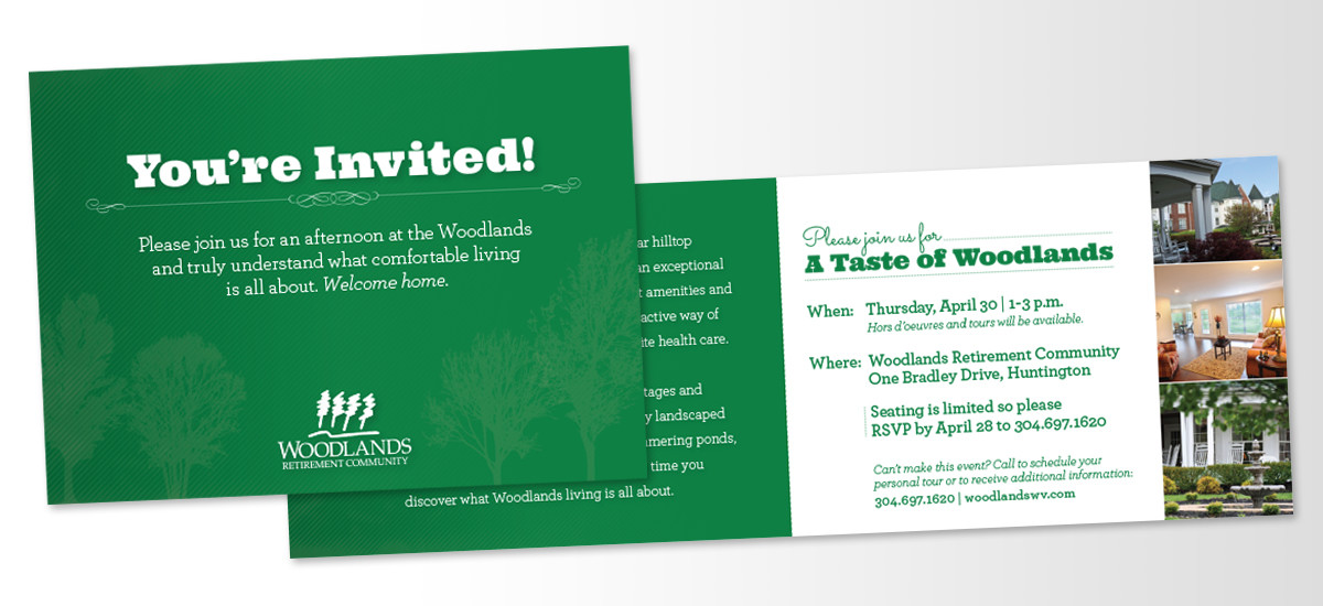 Barnes Agency Work - Woodlands Invitation