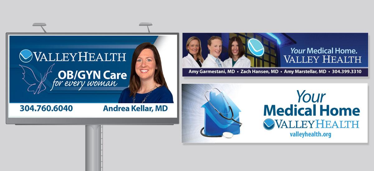 Barnes Agency Work - Valley Health Billboards