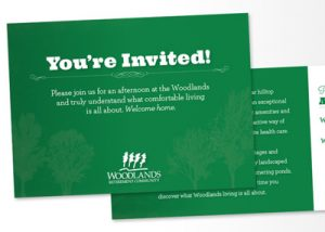 Barnes Agency Work - Woodlands Invitation Featured